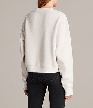 Women's Gilda Sweat (CHALK WHITE/TAUPE) - Image 4