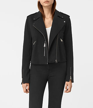 Damen Harper Biker Sweat (Black)
