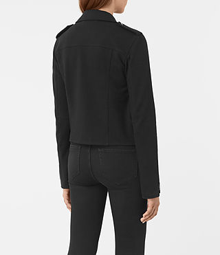 Donne Harper Biker Sweatshirt (Black) - product_image_alt_text_5