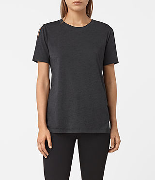 Women's Row Devo Tee (DARK NIGHT BLUE) - product_image_alt_text_2