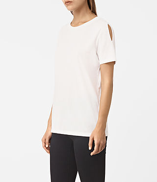 Damen Row Devo Tee (SMOG WHITE)