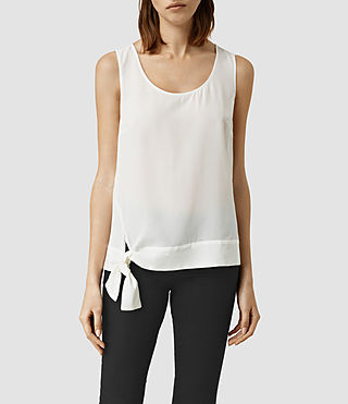 Women's Neely Silk Top (Chalk White)