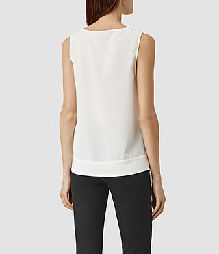 Women's Neely Silk Top (Chalk White) - product_image_alt_text_3