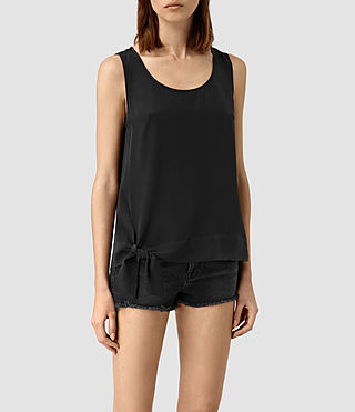 Women's Neely Silk Top (Black)