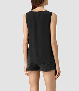 Women's Neely Silk Top (Black) - product_image_alt_text_3