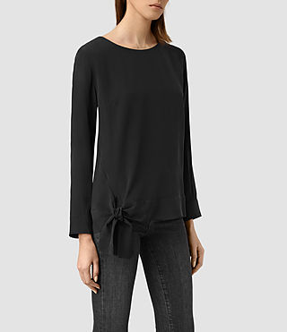 Women's Neely Long Sleeve Top (Black) - product_image_alt_text_2