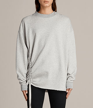 Damen Able Sweatshirt (Grey Marl) -