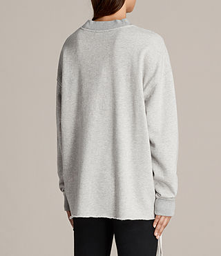 Damen Able Sweatshirt (Grey Marl) - product_image_alt_text_4