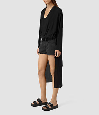 Womens Avala Top (Black) - product_image_alt_text_2