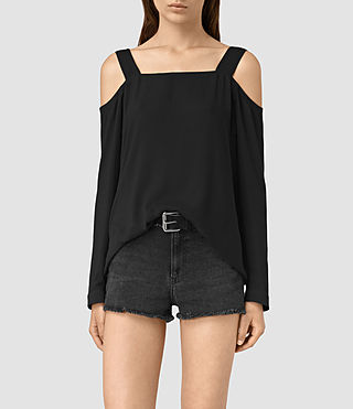 Damen Elvi Top (Black)