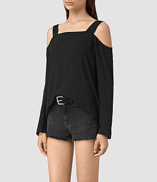 Womens Elvi Top (Black) - product_image_alt_text_3