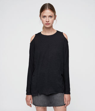 Women's Aino Tee (DARK NIGHT BLUE) - product_image_alt_text_3