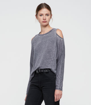 Damen Aino Tee (COAL GREY)