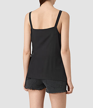 Mujer Vea Silk Top (Black) - product_image_alt_text_3