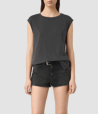 Mujer Cassie Devo Tank (COAL BLACK) - product_image_alt_text_1