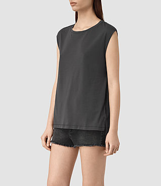 Mujer Cassie Devo Tank (COAL BLACK) - product_image_alt_text_3