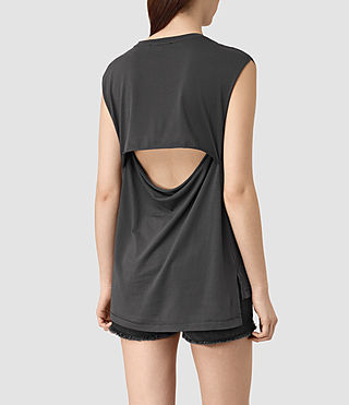 Mujer Cassie Devo Tank (COAL BLACK) - product_image_alt_text_4