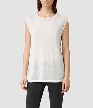 Womens 캐시 데보 탱크 톱 (SMOG WHITE) - product_image_alt_text_1