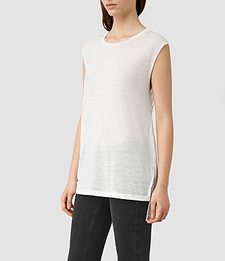Womens 캐시 데보 탱크 톱 (SMOG WHITE) - product_image_alt_text_3