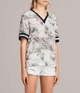 Damen Ana Tyde Silk Top (SOAP GREY) - product_image_alt_text_2