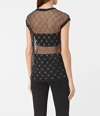 Women's Wire Embellished Tee (Black) - product_image_alt_text_4