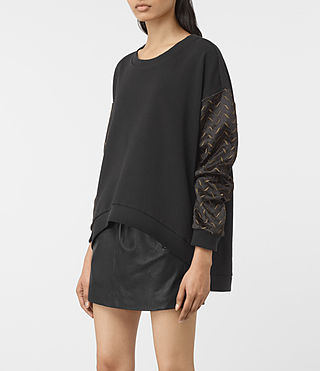 Damen Fia Embroidered Sweatshirt (Black) - product_image_alt_text_2
