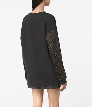 Damen Fia Embroidered Sweatshirt (Black) - product_image_alt_text_3