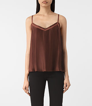 Damen Merin Top (AUBERGINE RED) -