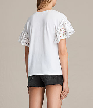 Mujer Trixi Ruffle Top (Chalk White) - product_image_alt_text_3