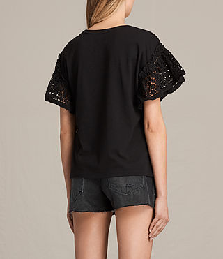 Womens Trixi Ruffle Top (Black) - product_image_alt_text_3