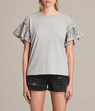 Donne Trixi Ruffle Top (Grey) -