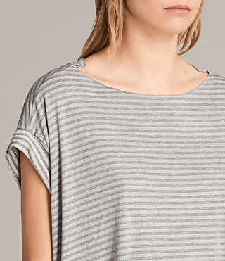 Femmes T-shirt Pina Stripe (PINK/GREY MARL) - product_image_alt_text_2