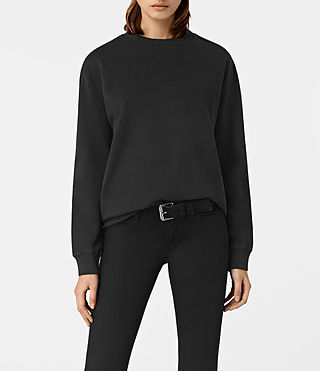 Womens Seaside Sweatshirt (Washed Black)
