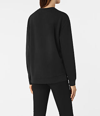 Women's Seaside Sweatshirt (Washed Black) - product_image_alt_text_3