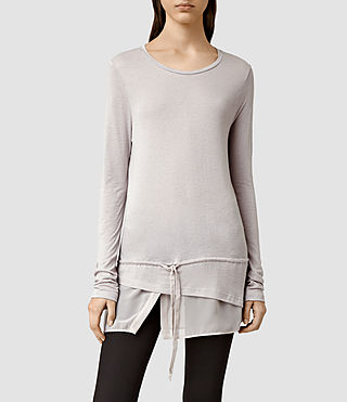 Womens Adria Tee (Pebble Grey)