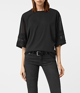 Damen Brendi Sleeve Top (Black)