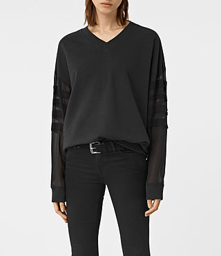 Womens Brendi Sweatshirt (Black)