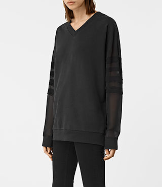 Donne Brendi Sweatshirt (Black) - product_image_alt_text_3