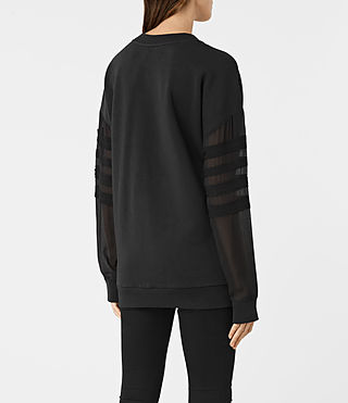 Donne Brendi Sweatshirt (Black) - product_image_alt_text_4