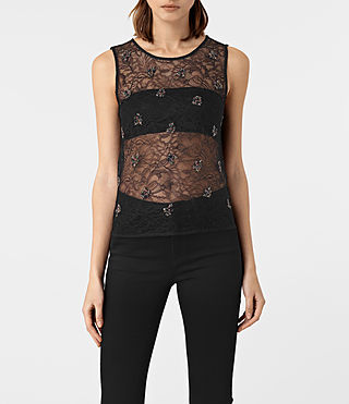 Womens Anouk Embellished Vest (Black)