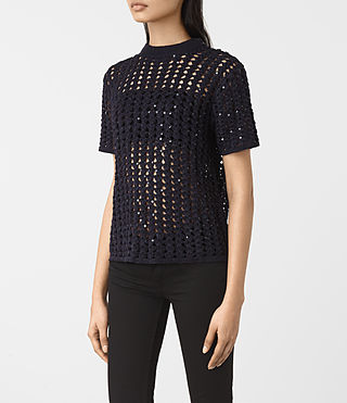 Mujer Alyse Top (Ink Blue) - product_image_alt_text_3