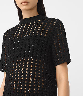 Womens Alyse Embellished Top (Black) - product_image_alt_text_3