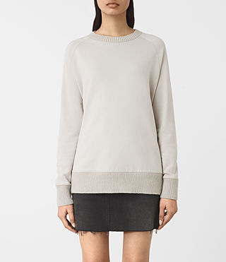 Mujer Nia Knit Sweatshirt (Ash Grey) - product_image_alt_text_1
