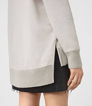 Mujer Nia Knit Sweatshirt (Ash Grey) - product_image_alt_text_2