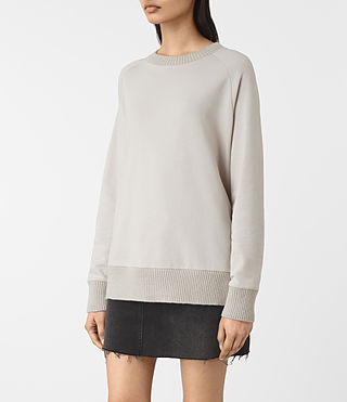 Mujer Nia Knit Sweatshirt (Ash Grey) - product_image_alt_text_3