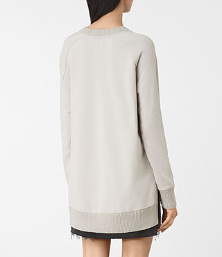 Mujer Nia Knit Sweatshirt (Ash Grey) - product_image_alt_text_4