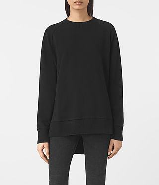Womens Nia Knit Sweatshirt (Jet Black)