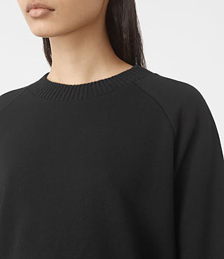 Womens Nia Knit Sweatshirt (Jet Black) - product_image_alt_text_2