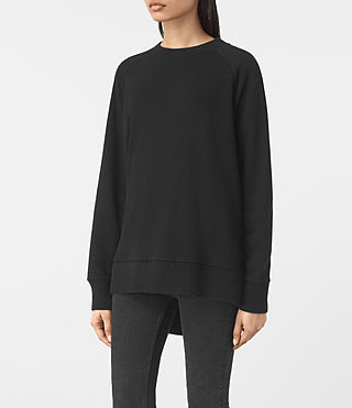 Womens Nia Knit Sweatshirt (Jet Black) - product_image_alt_text_3