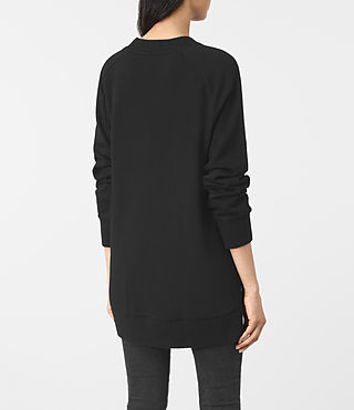 Womens Nia Knit Sweatshirt (Jet Black) - product_image_alt_text_5